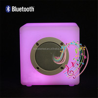 Europe Best selling Smart rechargeable Cube Mini Audio Speaker with led bluetooth