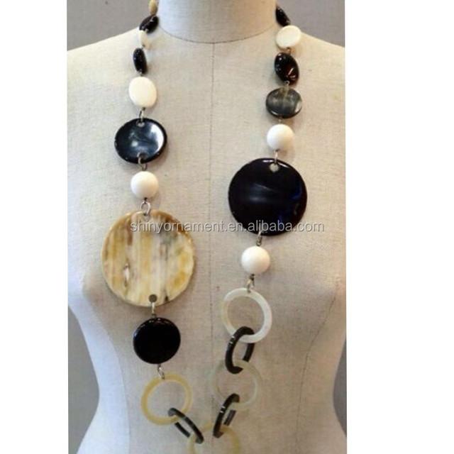 Buffalo Horn acrylic necklace,buffalo bone acrylic necklace