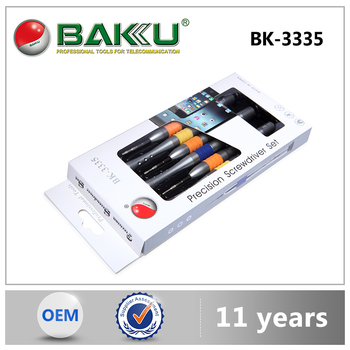 BK-3335 BAKU 6 in 1Multifunction Pentagon Phillips Slotted Y type Precision Screwdriver Set