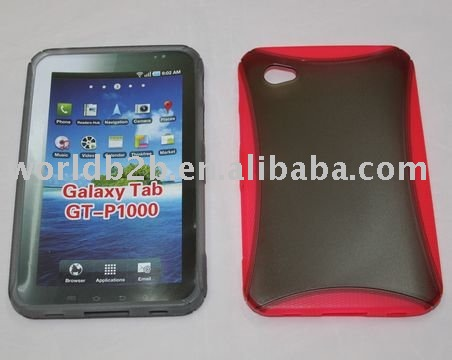 hybrid silicon and pc hard case for Samsung Galaxy Tab GT-P1000