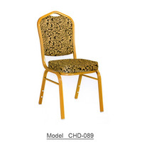 Cheap wholesale gold stackable banquet chair