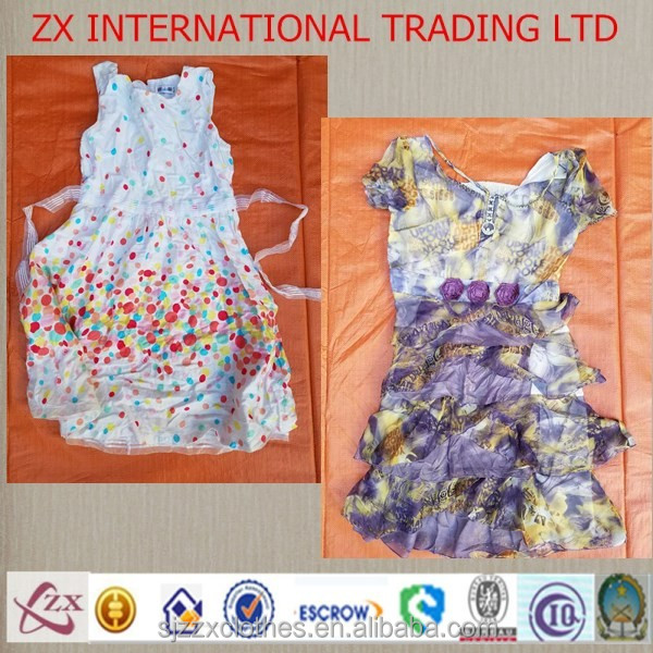 Secondhand lady fashion dresses used clothes wholesale supplier in china hot for nigeria ghana kenya used clothes italy