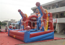 High quality inflatable double lane basketball hoop filed for sale, inflatable inflatable basketball game