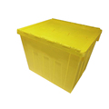 Single loading 40kg 600 x 500x 485mm turnover container hinged lid hard plastic container boxes