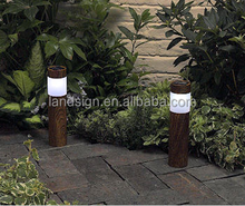 2015 new solar energy products free packing design solar powered lamp series 50,000hours 1*white led solar bollard light