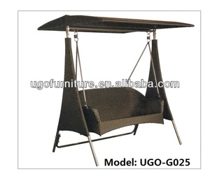 balcony swing chair UGO-G025 two seater garden rattan chair hot selling