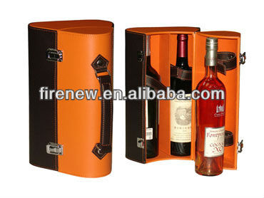 Wine Carrier for 3 Bottles, Triple Wine Gift Box, Leather Wine Gift Box Wine Case