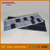Shingle Wanael Anti-fading Colorful Stone-coated Metal Roof Tile for South Africa Sale