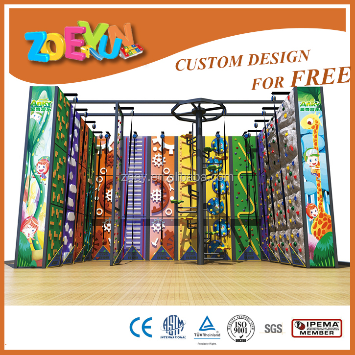 indoor climbing wall kids indoor rock climbing wall with auto belay