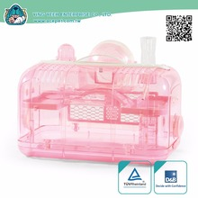 new premium rectangle Transparent plastic hamster cage Equipped with13.5cm Rolling Ball