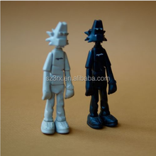 Hot selling Custom Plastic Collection Figurine Articulated/Plastic Action Figure White Black/Custom Plastic Action Figures Mode