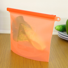 Easy Clean Stand up Reusable Silicone Food Fresh Bags Sealing Storage*