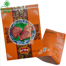 custom printing Food grade white kraft paper beef jerky packaging bags /back sealed paper food bags for sliced dried beef