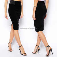 China top quality oem wholesale clothing jersey pencil bodycon lady skirt