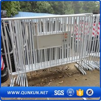 Metal HDG Crowd Traffic Control Fence Interlocking Portable Round Tube Barrier Barricade