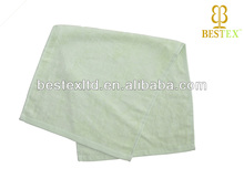 wholesale Solid Color Green hand Bamboo Fabric Kids towel