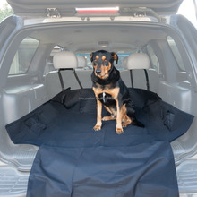 "Black 59""x47"" Waterproof Oxford Auto Car Trunk Mat / Back Seat Cover For Pet Dog"