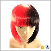 Great Synthetic Mixed-color Red Straight Long Cosplay Party Hair Wig for Women