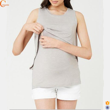 Sleeveless maternity clothes tank tops breastfeeding clothing