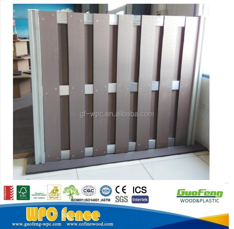 wood composite fence wpc garden fence water proof fencing