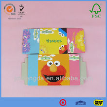 Cute Colorful Printing Kids Picture Packing Boxes For Tissue