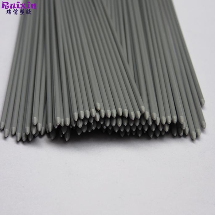 Grey anti-static PVC rod with round end diameter 3mm