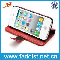 New Arrival Leather Belt Clip flip Wallet Case for iphone 5 Cover