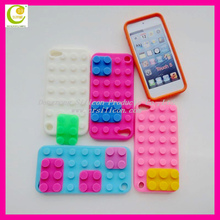 Cool and fashionable silicone rubber lego cover for iphone 5