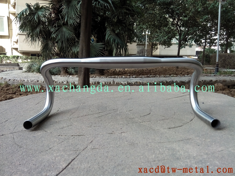 titanium road bike bending handlebar customize road handlebar with handing brush finished