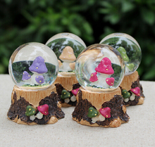 Mushroom/Flower Resin Water Globe