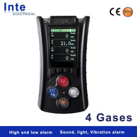 Personal usage multi gas detector 4 gases monitor with fast response
