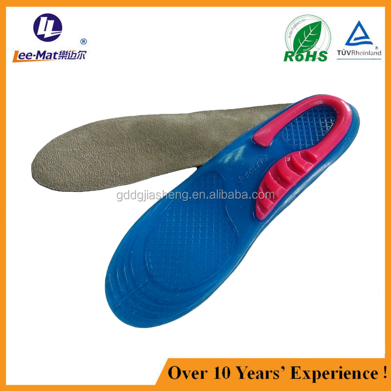 Light up shoes weight loss rubber memory foam silicone gel metal insoles for shoes