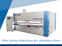 High quality CNC rotary lacquering machine with two worktable