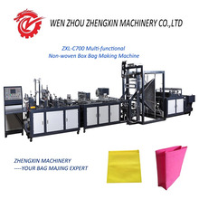 ZXL-C700 FULLY AUTOMATIC BOX BOTTOM NON WOVEN BAG MAKING MACHINE