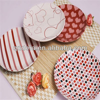 western style plain ceramic plate,hot sale porcelain plate