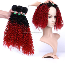 High Quality 16 Inch 18 Inch 20 Inch T 1 B/Gray Hair Extension Afro Kinky Curly Hair Micro Beads Weft Hair Extensions For Women