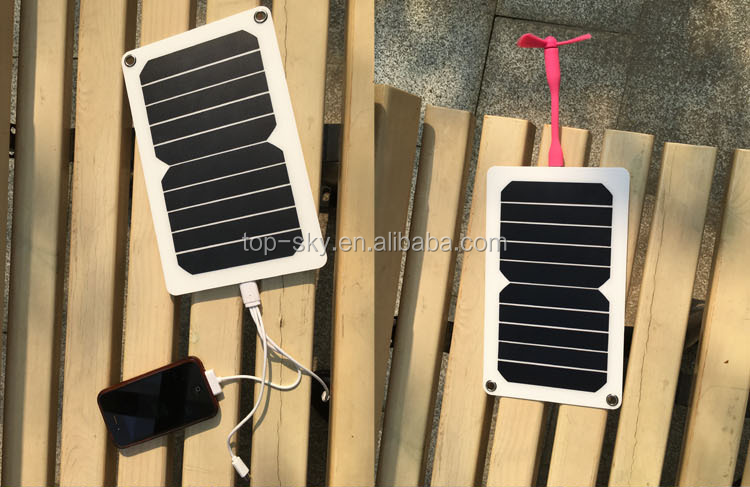 5.3W Solar Panel Power Battery Charger Backup Power Bank For Smart Phone Tablet iphone 6s Samsung ipad solar charger for S8