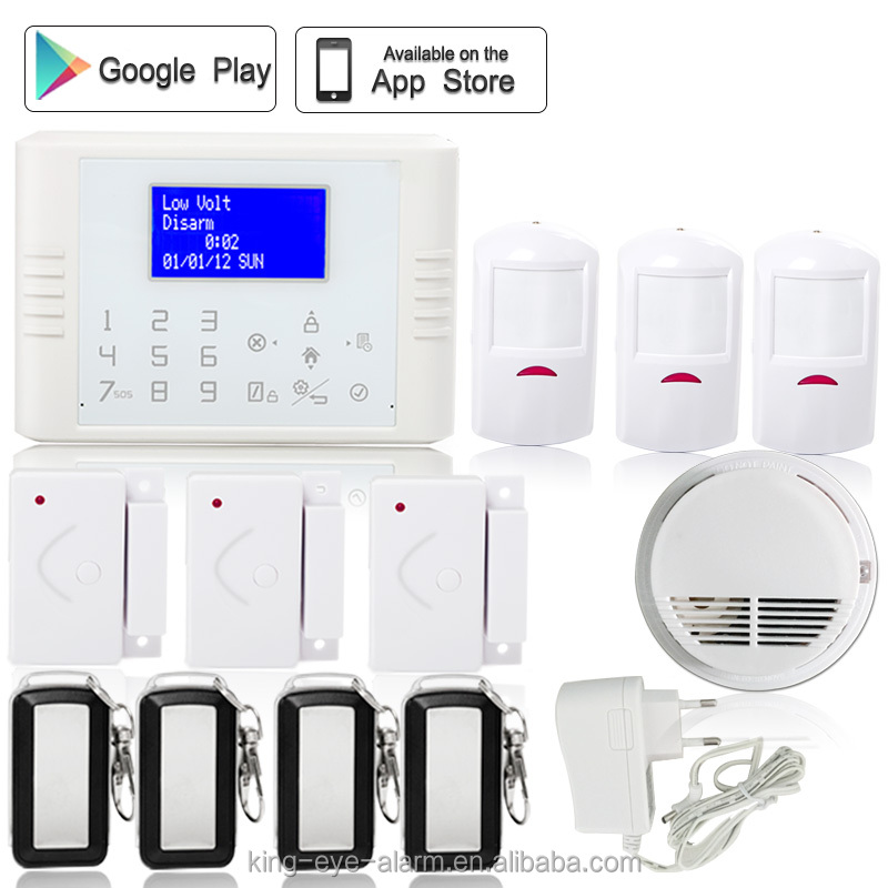 LCD home electrical appliance control latest best selling 868mhz/433mhz wired security alarm system
