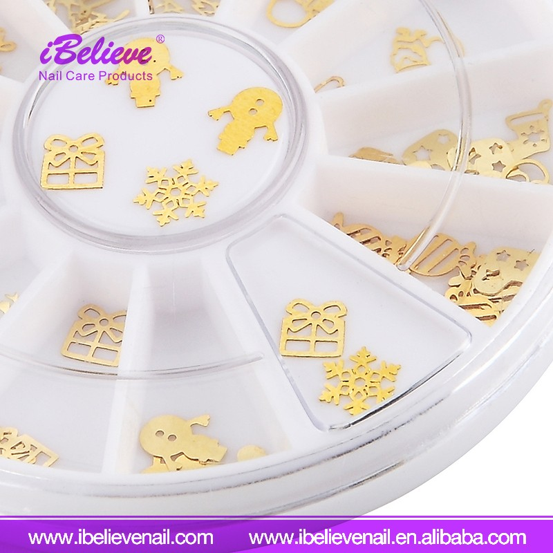 Factory Price Beautiful Shiny Mixed Design Nail Decorate Nail Sticker Manufacturer