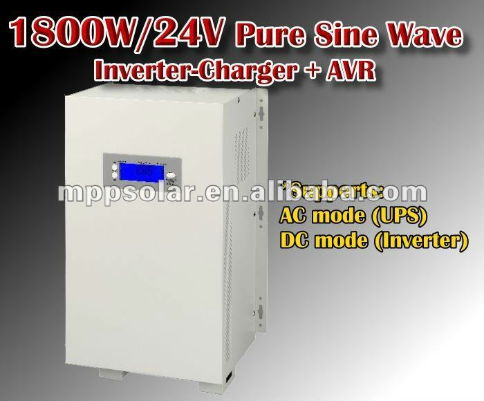 1800w surge 5400w pure sine wave inverter battery charger 24v AVR UPS inverter charger