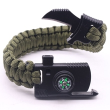 Outdoor Paracord Survival Bracelet With Compass