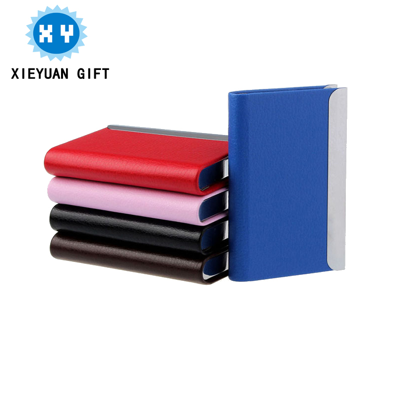 Leather material business card holder name card holder