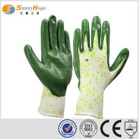 sunnyhope very safety pattern Nitrile rubber gloves