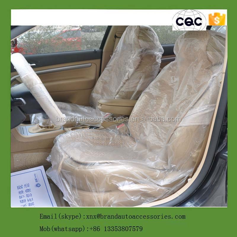henan xingxiang brand auto accessories custom clear plastic car seat cover with size as customized