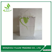 Cotton Handle Art Paper Glossy Varnish Printed Paper Carrier Bags for Gift Wine Bottle