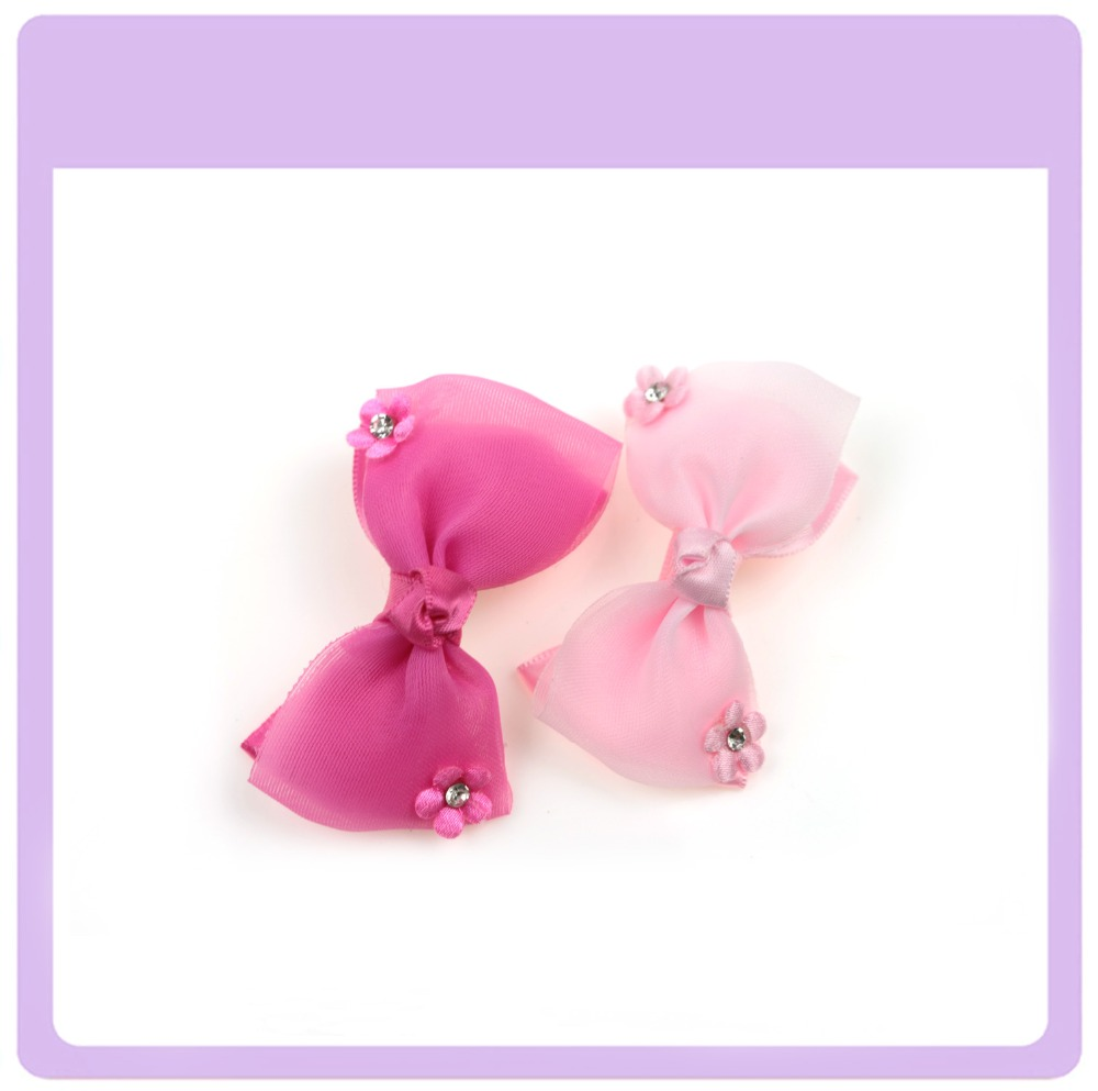 Beautiful silk bowknot duck clips