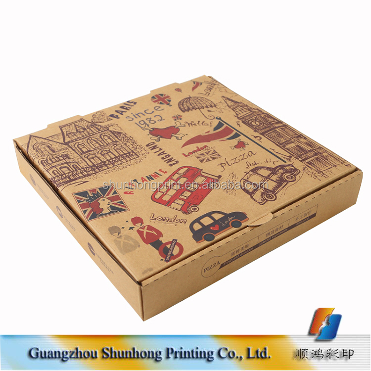 "Hot sale 24"" pizza boxes, color printing carton packaging pizza box custom"