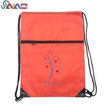 Wholesale Custom Hiking Sports Travel Polyester Drawstring Backpack Bag