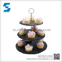 Slate Dinnerware 3-layer cake stand