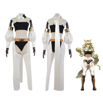 Wholesale Anime Akame Ga Kill Cosplay Costume Leone Cosplay Performance suit cool anime cosplay suit with long scarf whole set